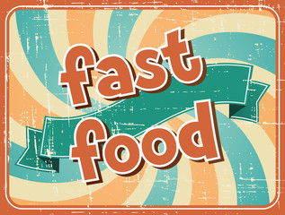 Fast food background in retro style.