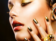 Fashion Beauty. Manicure and Make-up