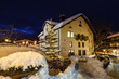 Village of Megeve on Christmas Illuminated in the Night, French