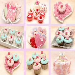 Mural de cupcakes y galletas