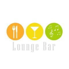 Colorida imagen para logo de un lounge bar