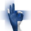 Hand OK sign with Finnish flag