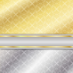srebrno-złote tło