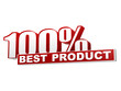 100 percentages best product red white banner - letters and bloc