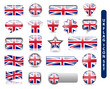 UK FLAG ICON SET (united kingdom great britain buttons flags)