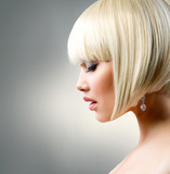 Beautiful Model with Short Blond hair