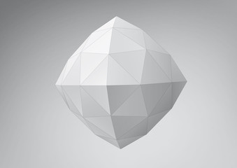 Crystal polyhedron. You can change colors