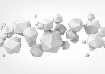 Composition of icosahedron for graphic design