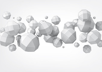 Composition of rhombicuboctahedron for graphic design