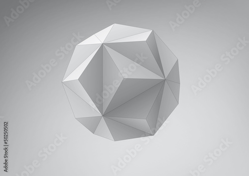 Small triambic icosahedron for your graphic design