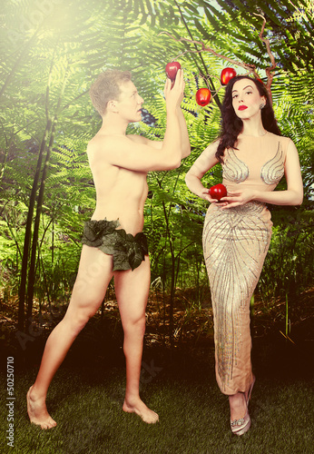 Illustrative Adam and Eve Conceptual Image