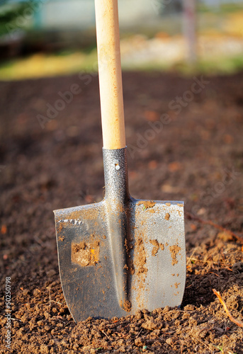 Shovel in field - outdoor