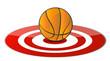 Basketball ball target concept