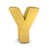 buchstabe letter Y gold vertikal