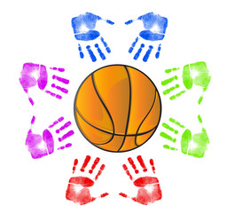 Basketball community concept