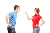 Young man and woman having an argument