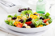 Greek salad with cheese and olives