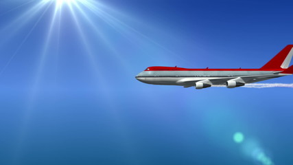 animated intro with airplane flying and isolated mask