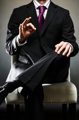 Man Wearing Suit o.k.