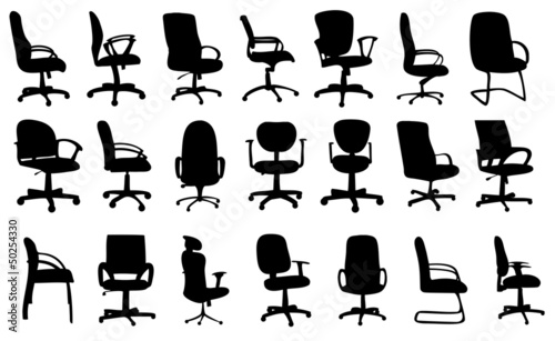 Office chairs silhouettes vector illustration - 50254330