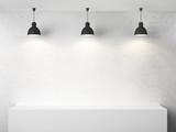 room  and three lamp