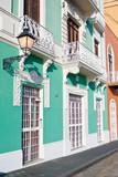 Spanish style buildings in Old San Juan, Puerto Rico