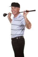 mature golfer