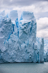 Perito Moreno glacier in Argentina close up