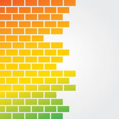 Colorful brick background stock vector