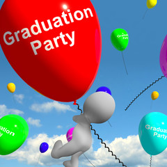 Graduation Balloons Showing School College Or University Graduat