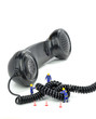 Leinwanddruck Bild - Telephone engineers repairing a telephone line