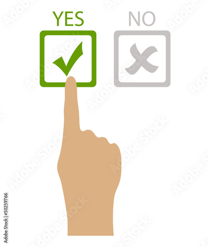Vector say yes symbol