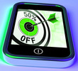 50 Percent Off On Smartphone Showing Great Offers