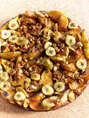 Caramelised Apple, Bananas And Walnut Tart
