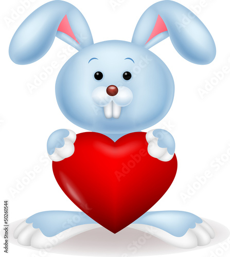 Rabbit with red heart
