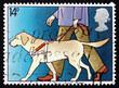 Postage stamp GB 1981 Guide Dog Leading Blind Man