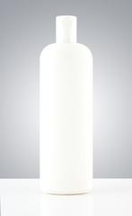 Grayscale White Plastic Bottle