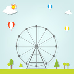 landscape with a ferris wheel