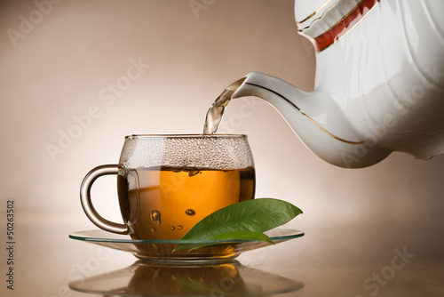 canvas print picture Hot tea
