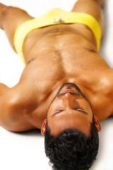 Relaxing sexy guy