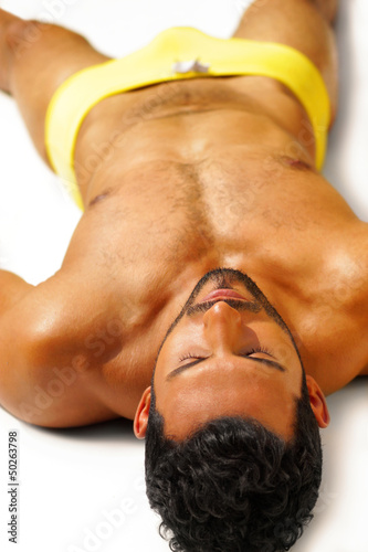 Relaxing sexy guy