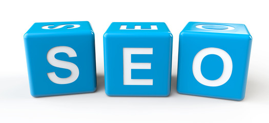 SEO sign cubes