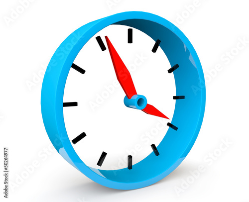 Icon of blue abstract clock