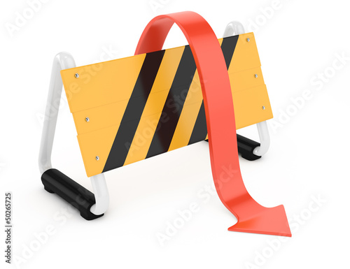 barrier and arrow