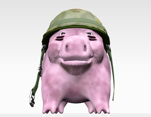 pink piggy wants to give orders