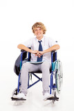 handicapped high school student