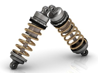 Two automotive shock absorber