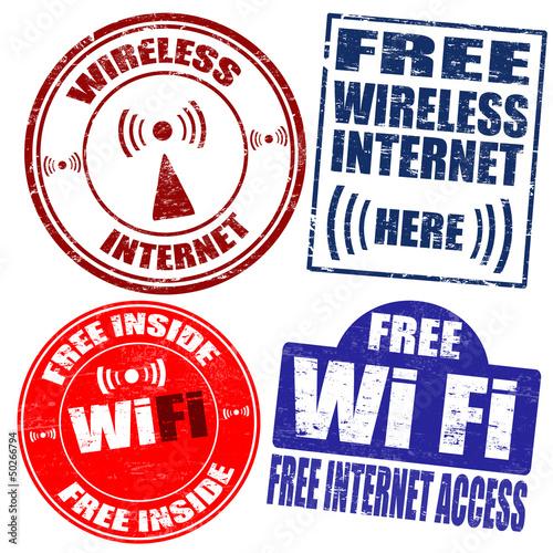 Wireless Wi-Fi internet stamps