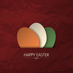 happy easter paper background