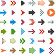 canvas print picture - Flat arrow icons.